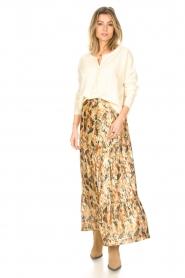 ba&sh |  Maxi skirt with lurex Galina | yellow  | Picture 2