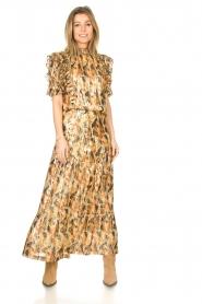 ba&sh |  Maxi skirt with lurex Galina | yellow  | Picture 3