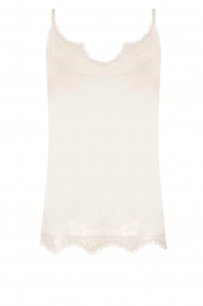 CC Heart |  Top with lace Puck | white  | Picture 1