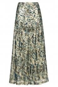 ba&sh |  Maxi skirt with lurex Galina | blue  | Picture 1