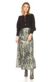 ba&sh |  Maxi skirt with lurex Galina | blue  | Picture 4