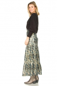 ba&sh |  Maxi skirt with lurex Galina | blue  | Picture 5