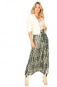 ba&sh |  Maxi skirt with lurex Galina | blue  | Picture 3