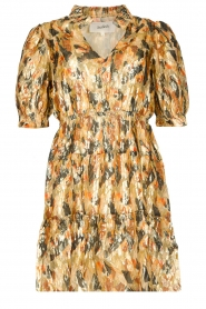 ba&sh |  Silk lurex dress with print Gloria | yellow  | Picture 1