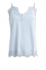 CC Heart |  Top with lace Puck | light blue  | Picture 1
