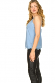 CC Heart |  Top with lace Puck | light blue  | Picture 4