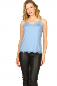 CC Heart |  Top with lace Puck | light blue  | Picture 3