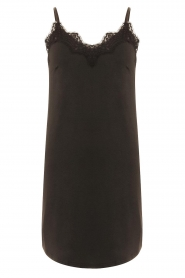 CC Heart |  Slip dress with lace Ivy | black  | Picture 1