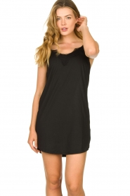 CC Heart |  Slip dress with lace Ivy | black  | Picture 3