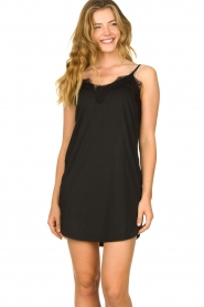 CC Heart |  Slip dress with lace Ivy | black  | Picture 2