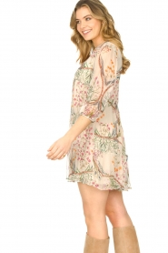 ba&sh |  Semi sheer dress with floral print Goya | naturel  | Picture 5