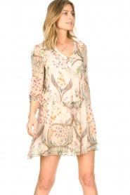 ba&sh |  Semi sheer dress with floral print Goya | naturel  | Picture 6