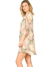 ba&sh |  Semi sheer dress with floral print Goya | naturel  | Picture 7