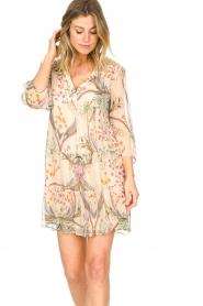 ba&sh |  Semi sheer dress with floral print Goya | naturel  | Picture 4