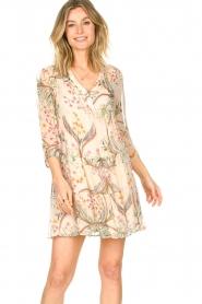 ba&sh |  Semi sheer dress with floral print Goya | naturel  | Picture 2