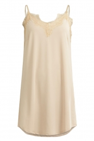 CC Heart |  Slip dress with lace Ivy | nude  | Picture 1