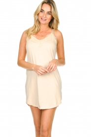 CC Heart |  Slip dress with lace Ivy | nude  | Picture 3