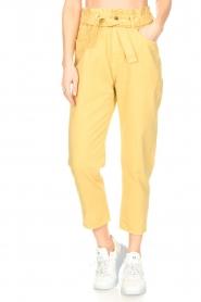 ba&sh |  Paperbag pants Jalia | yellow  | Picture 4