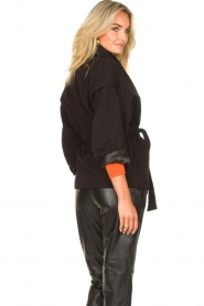 ba&sh |  Cotton jacket with waistbelt Lost | black  | Picture 7