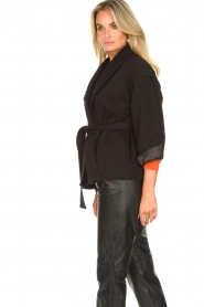 ba&sh |  Cotton jacket with waistbelt Lost | black  | Picture 6