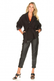 ba&sh |  Cotton jacket with waistbelt Lost | black  | Picture 3