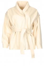 ba&sh | Katoenen jasje met strikceintuur Lost | off white   | Afbeelding 1