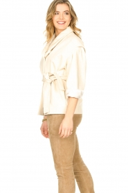 ba&sh |  Cotton jacket with waistbelt Lost | off white  | Picture 6