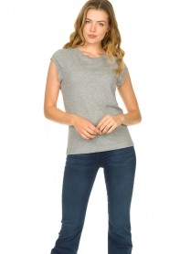 CC Heart |  Cotton mix t-shirt Classic | grey  | Picture 3