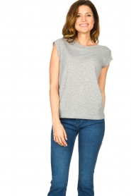 CC Heart |  Cotton mix t-shirt Classic | grey  | Picture 2