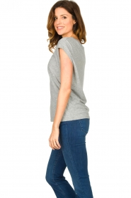 CC Heart |  Cotton mix t-shirt Classic | grey  | Picture 4