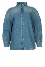 ba&sh |  Denim blouse Shine | blue  | Picture 1