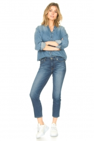 ba&sh |  Denim blouse Shine | blue  | Picture 3