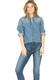 ba&sh |  Denim blouse Shine | blue  | Picture 2