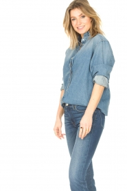 ba&sh |  Denim blouse Shine | blue  | Picture 4