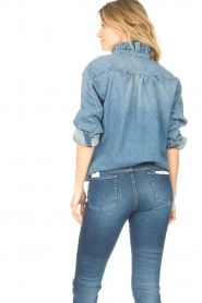 ba&sh |  Denim blouse Shine | blue  | Picture 5