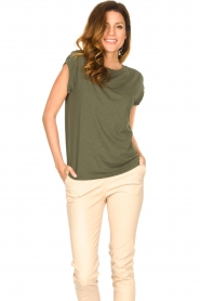 CC Heart |  Cotton mix t-shirt Classic | green  | Picture 3