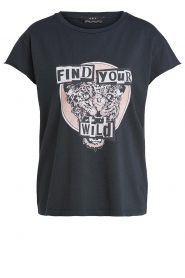 Set |  Cotton T-shirt with print Saba | black  | Picture 1