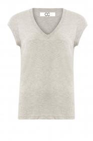 CC Heart |  Cotton mix V-neck T-shirt Vera | grey  | Picture 1