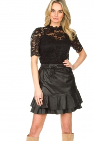Set |  Top with lace Sam | black  | Picture 2