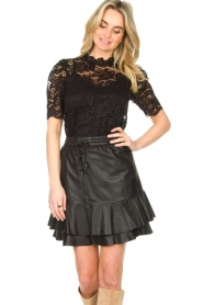 Set |  Top with lace Sam | black  | Picture 4