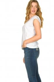 CC Heart |  Cotton mix v-neck t-shirt Vera | white  | Picture 4