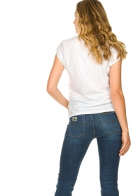 CC Heart |  Cotton mix v-neck t-shirt Vera | white  | Picture 5
