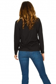 CC Heart |  Cotton mix longsleeve t-shirt Mae | black  | Picture 5