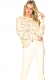 Set |  Open work sweater Sinne | natural  | Picture 2