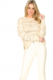 Set |  Open work sweater Sinne | natural  | Picture 5
