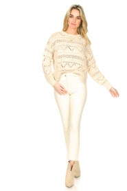 Set |  Open work sweater Sinne | natural  | Picture 3