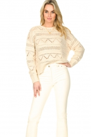 Set |  Open work sweater Sinne | natural  | Picture 4