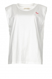 Lolly's Laundry |  T-shirt with shoulder pads Alex | white  | Picture 1