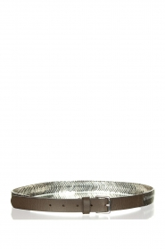 The Kaia |  Belt with silver hardware Doris | black  | Picture 2