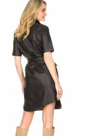 Set |  Lamb leather dress with button-up design Videl | black  | Picture 9